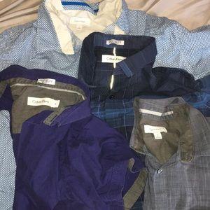 5 Calvin Klein dress shirts
